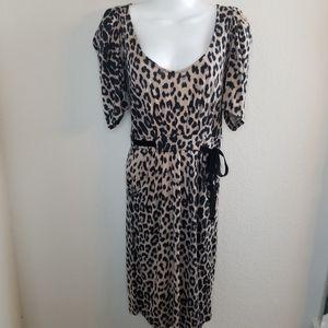 Zara cheetah print dreas size large